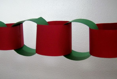 making paper chains is also a wonderful activity to do with small children matt always loved making these and part of the reason was that he loved making - Christmas Chain Decorations