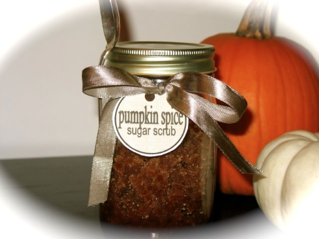 Homemade Body Scrub Pumpkin Spice