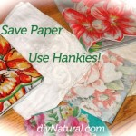 Using Handkerchiefs Instead of Facial Tissue