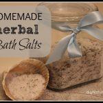 Homemade Herbal Bath Salts
