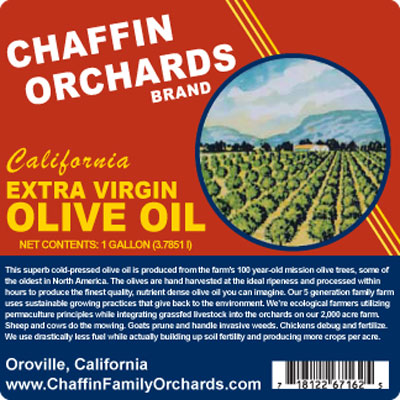Chaffin Olive Oil