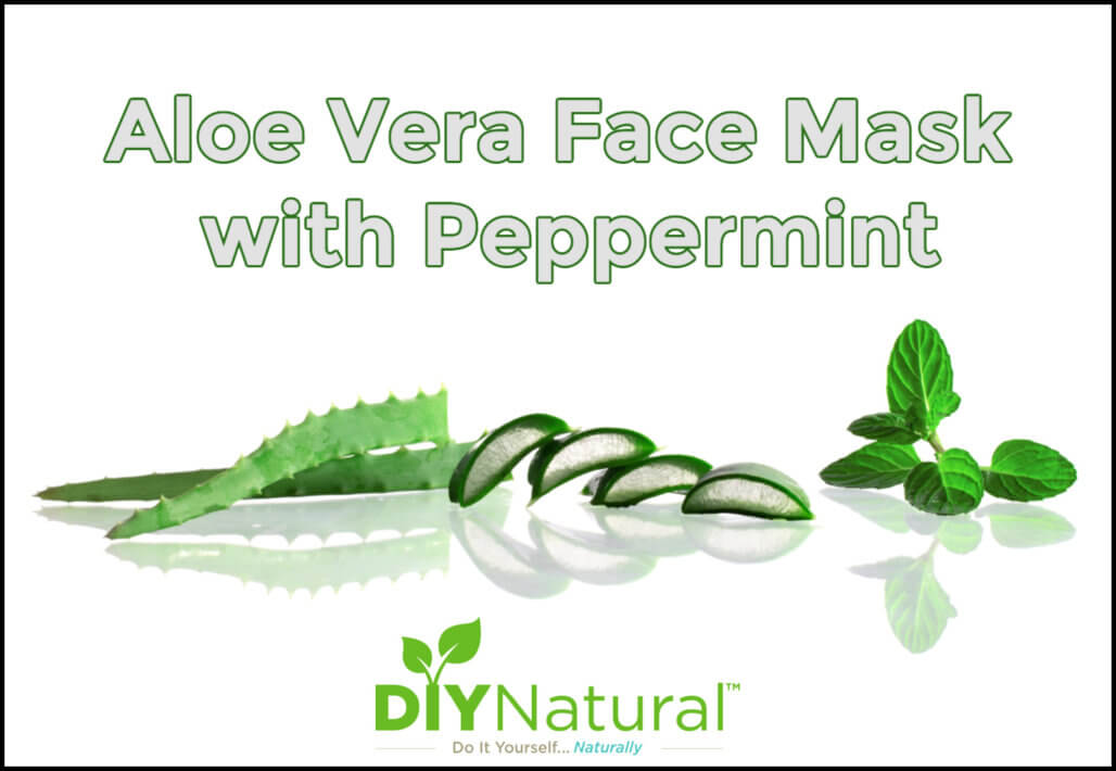 Refreshing Aloe Vera Face Mask with Peppermint