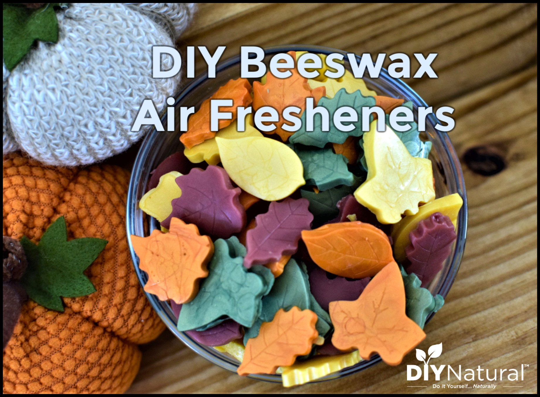 Simple DIY Autumn Leaf Beeswax Air Fresheners