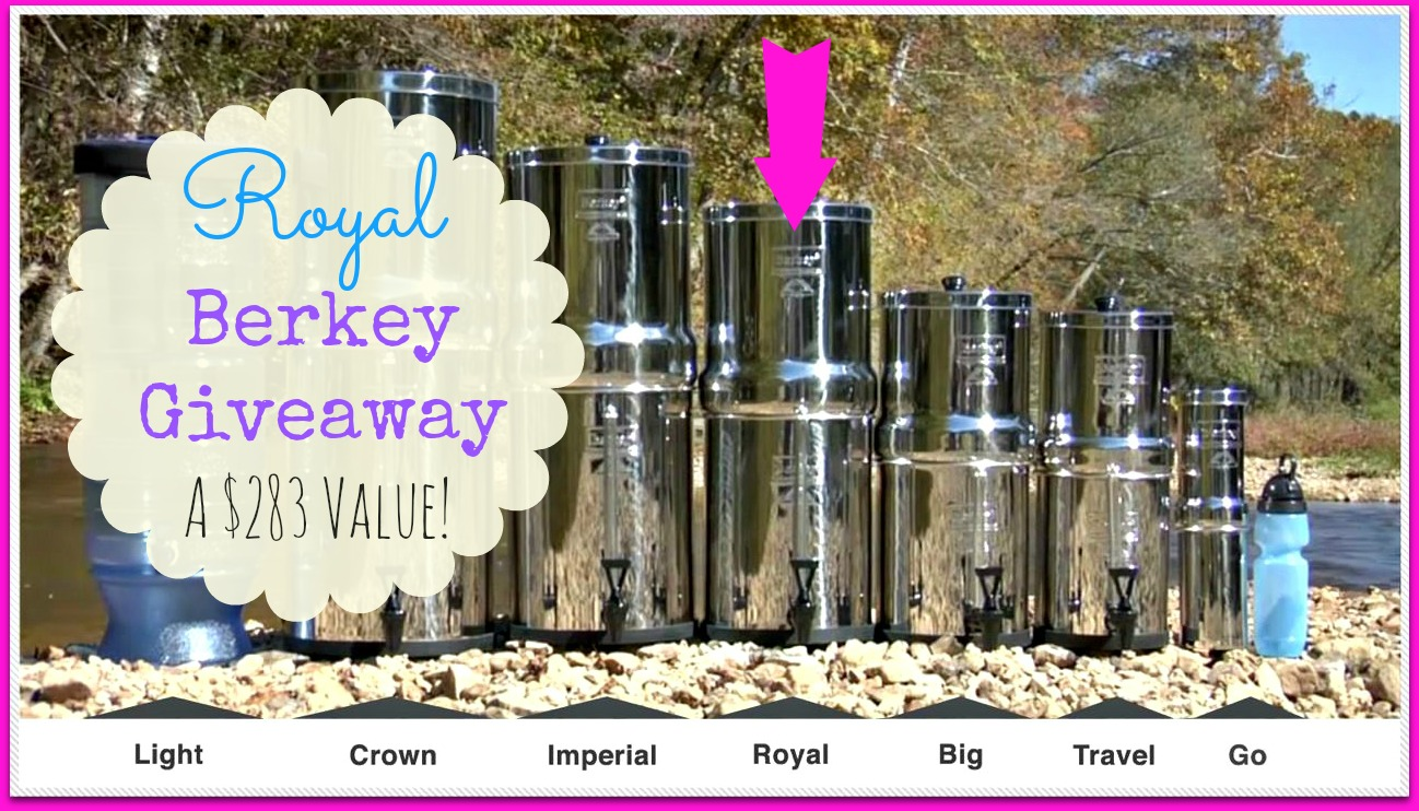 The Royal Berkey Water Filter Giveaway