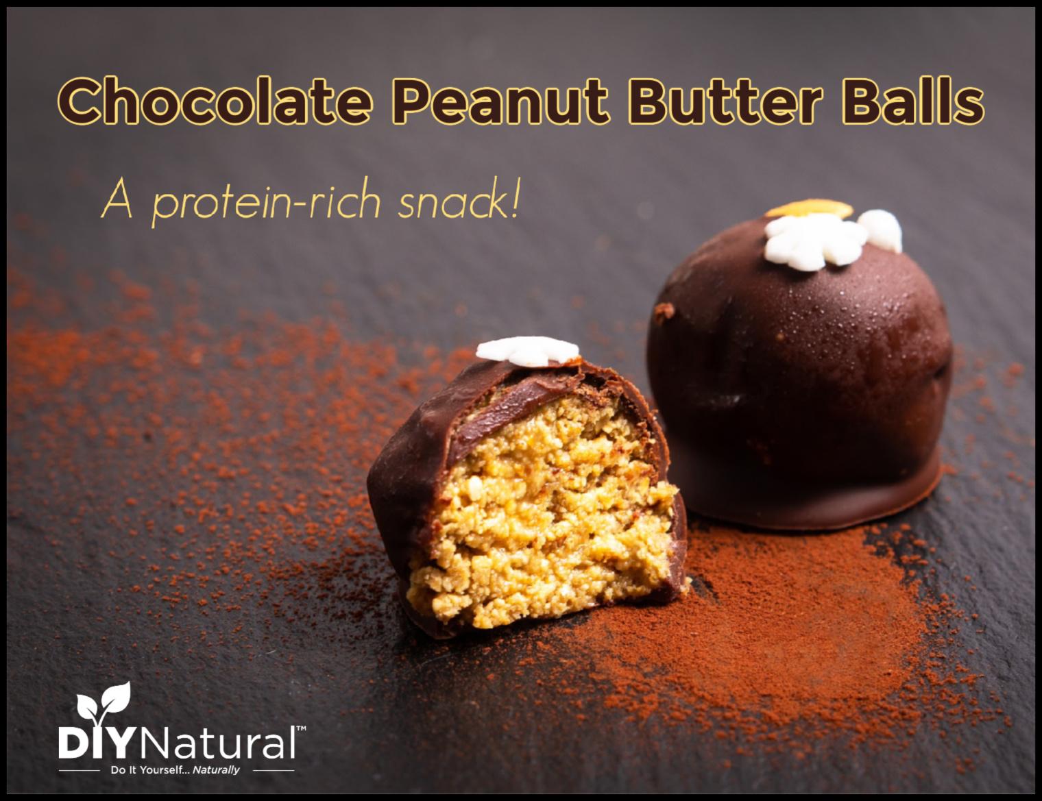 Yummy, Protein-Rich Chocolate Peanut Butter Balls