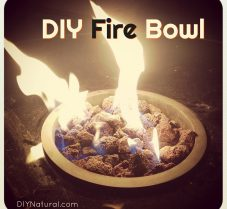 DIY Fire Bowl for Ambiance and To Keep Bugs Away