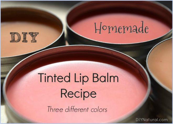 DIY Lip Balm: Three Different Colors of Homemade DIY Tinted Lip Balm
