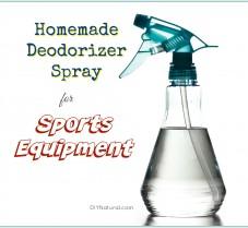 Homemade Deodorizer Spray for Sports Equipment