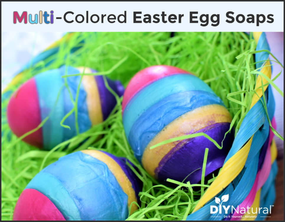 Beautiful & Fun Multicolored Easter Egg Soap Recipe