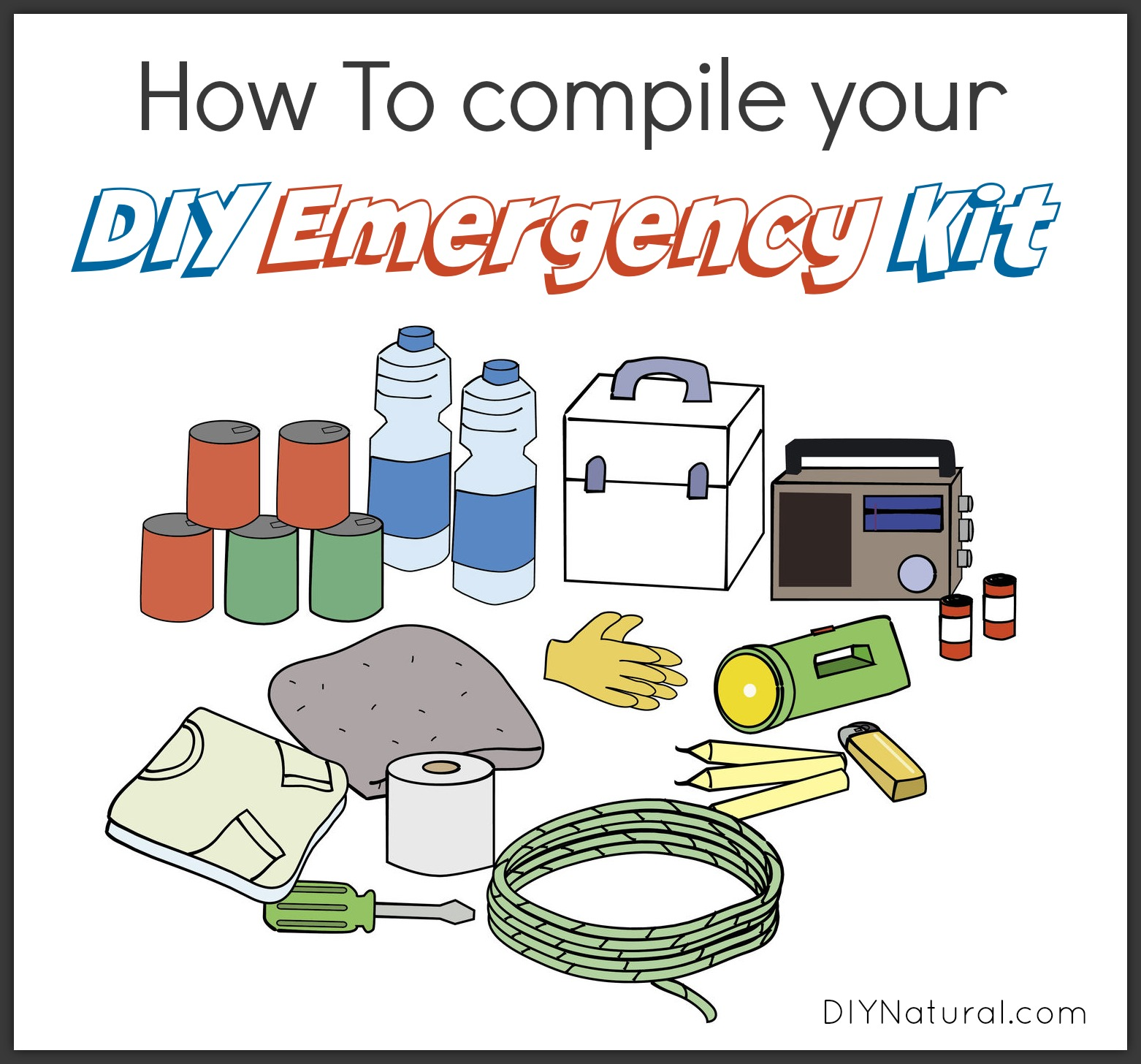 How To Make A Diy Emergency Kit For Your Home