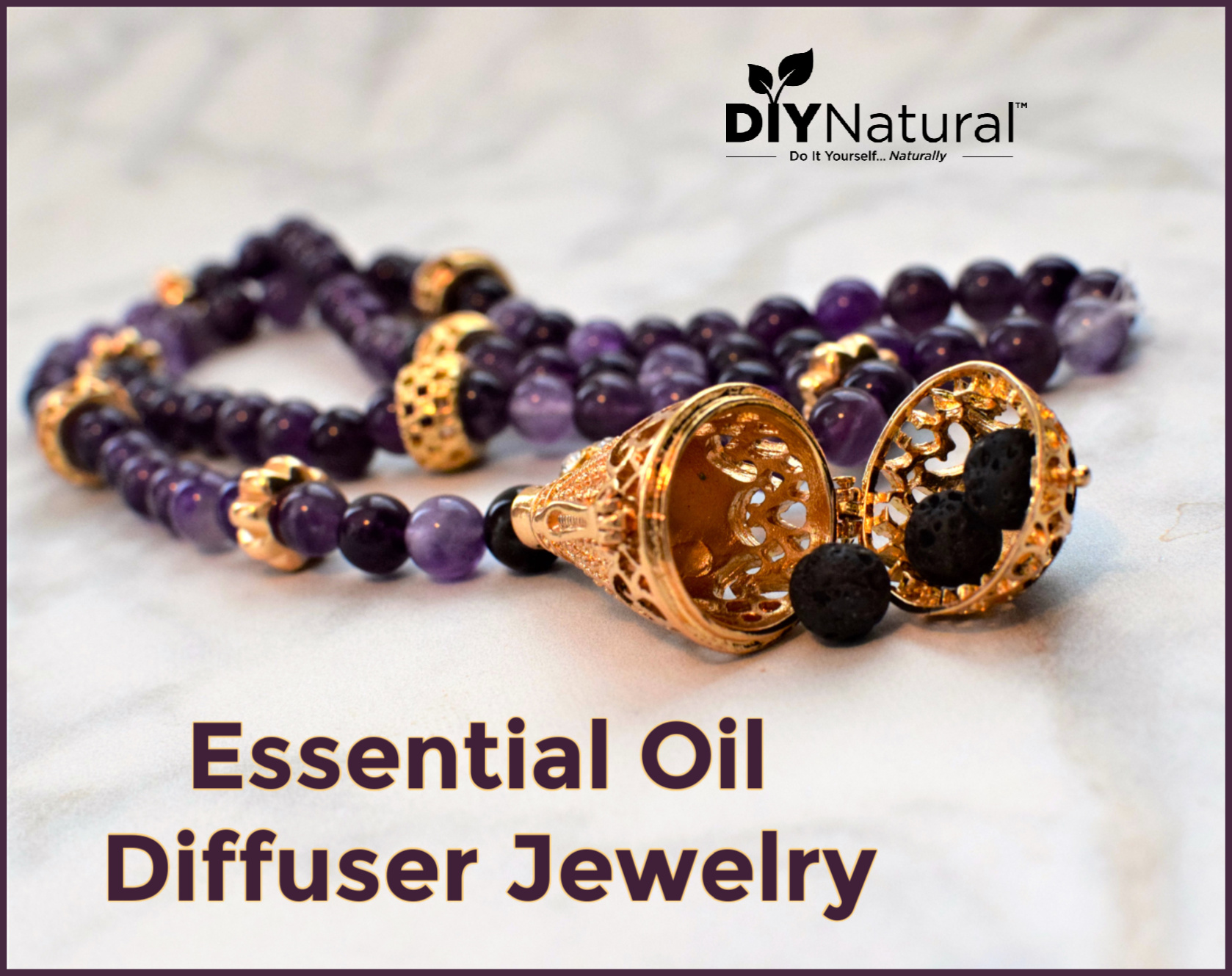 Fun and Easy to Make Essential Oil Diffuser Jewelry