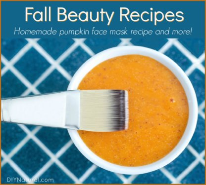 Fall Recipes Pumpkin Face Mask