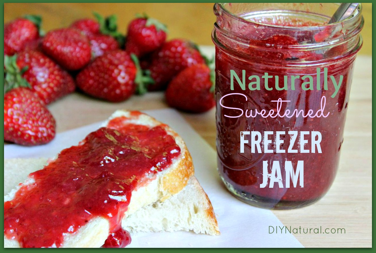 Freezer Jam - Naturally Sweetened Made with Strawberries or