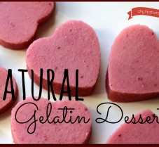 Natural Gelatin Desserts for Valentine's Day