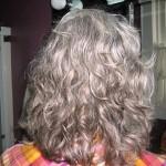 Hair half dry after applying gel