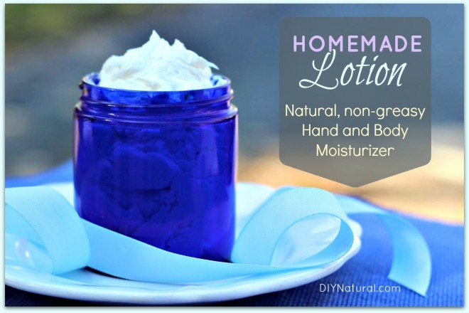 Homemade Lotion Recipes - non-greasy lotion