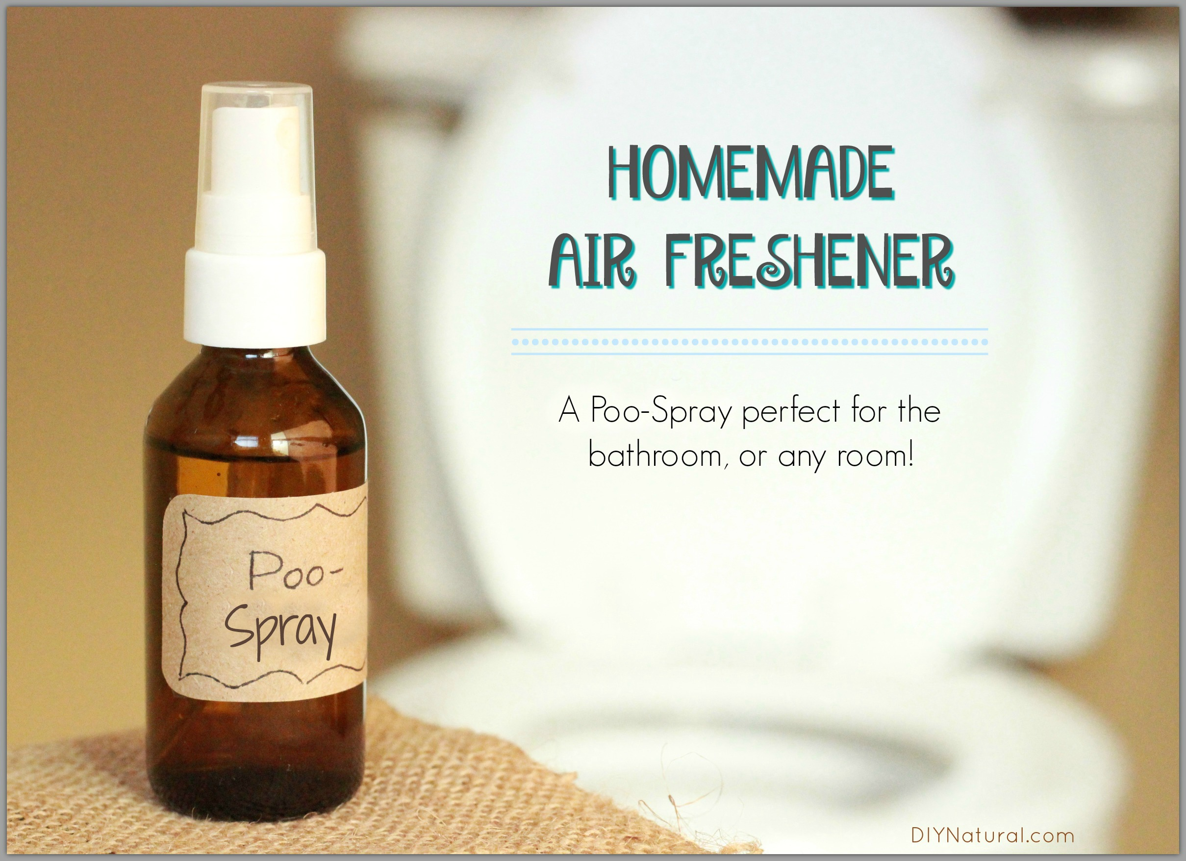 Homemade air freshener a natural diy poo spray - Natural air freshener for bathroom ...
