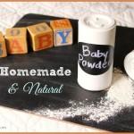 You'll LOVE this Homemade Natural Baby Powder!