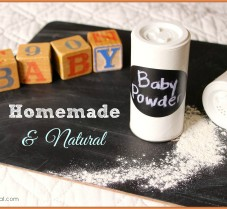 Homemade Natural Baby Powder