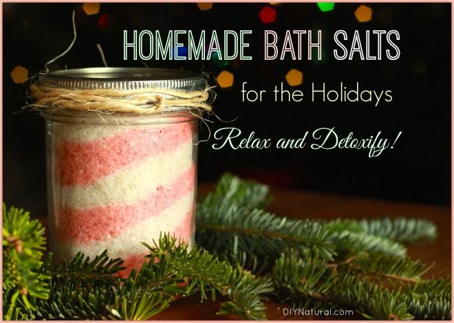 Homemade Bath Salts Detox Holidays