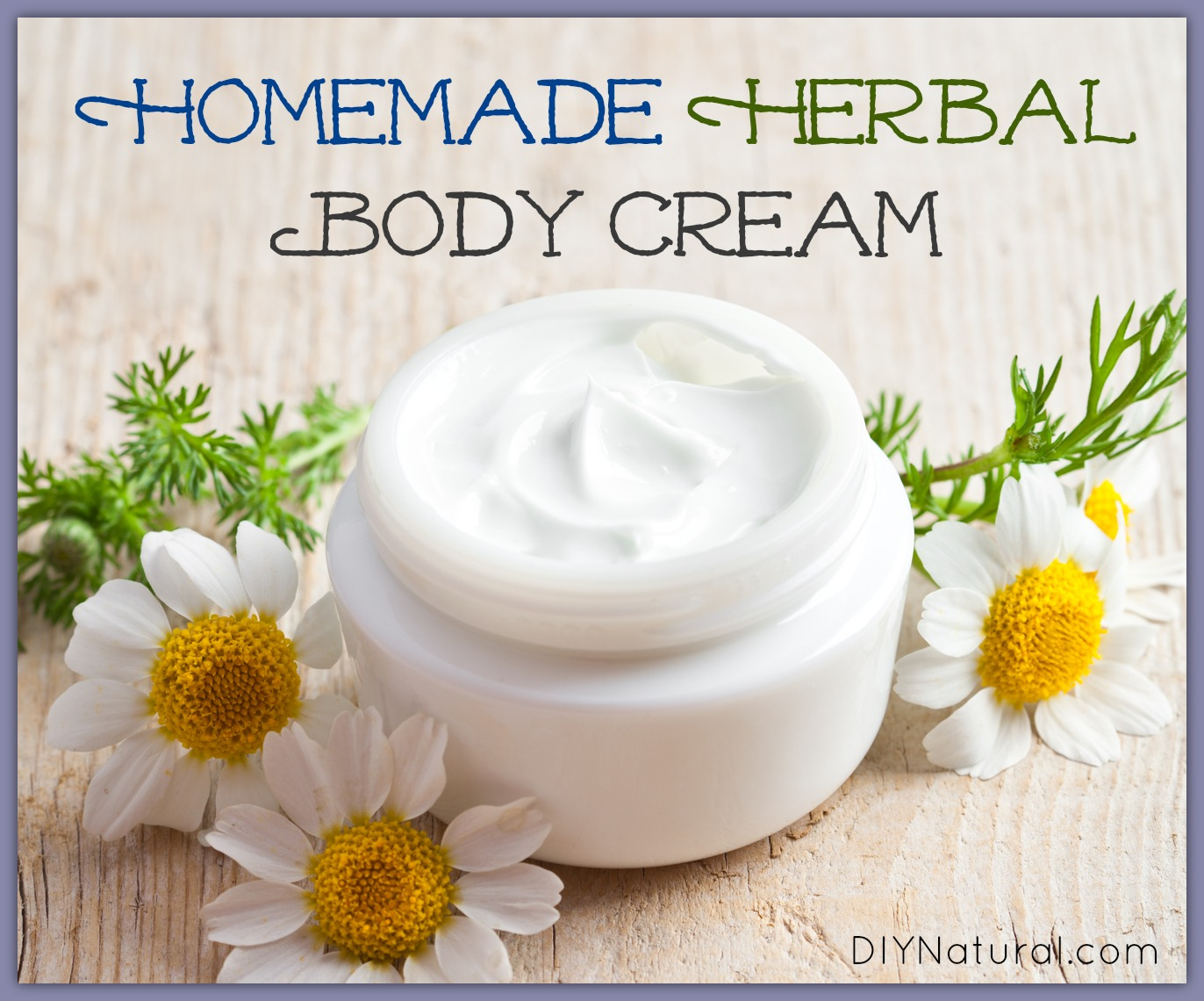 Homemade body lotion made of simple natural ingredients