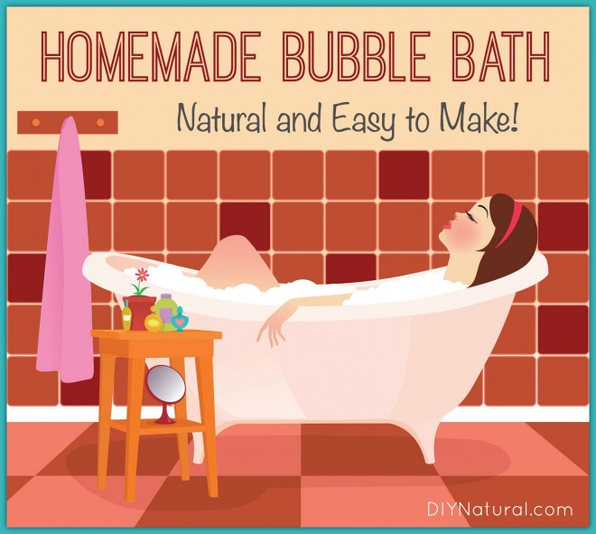 Homemade bubble bath without all the chemicals for Home made bubble bath