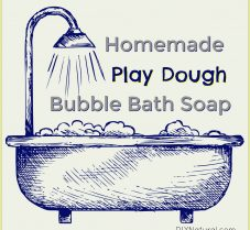 Natural Homemade Bubble Bath PlayDough Recipe