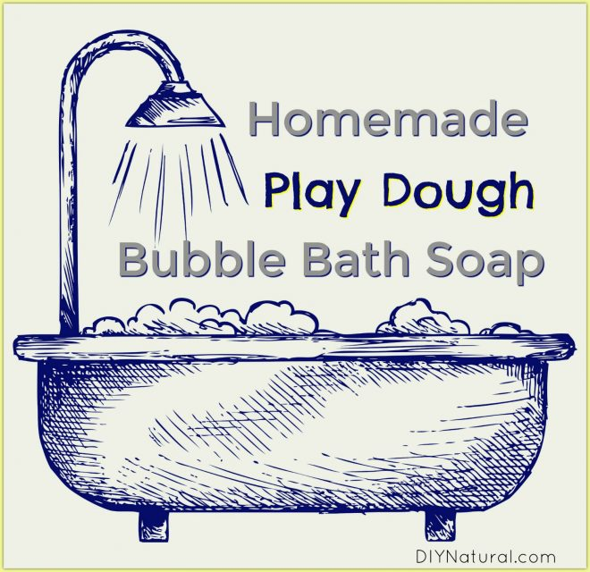 Homemade Bubble Bath Play Dough