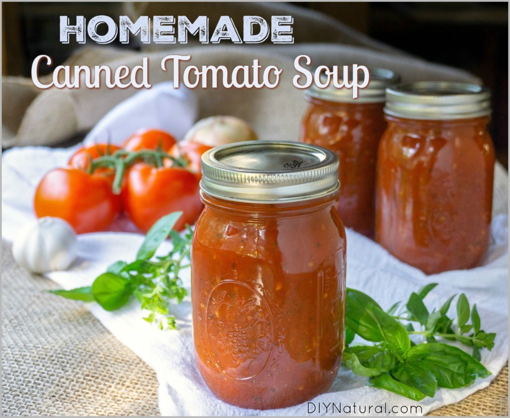 A Homemade Tomato Soup Recipe Made for Canning