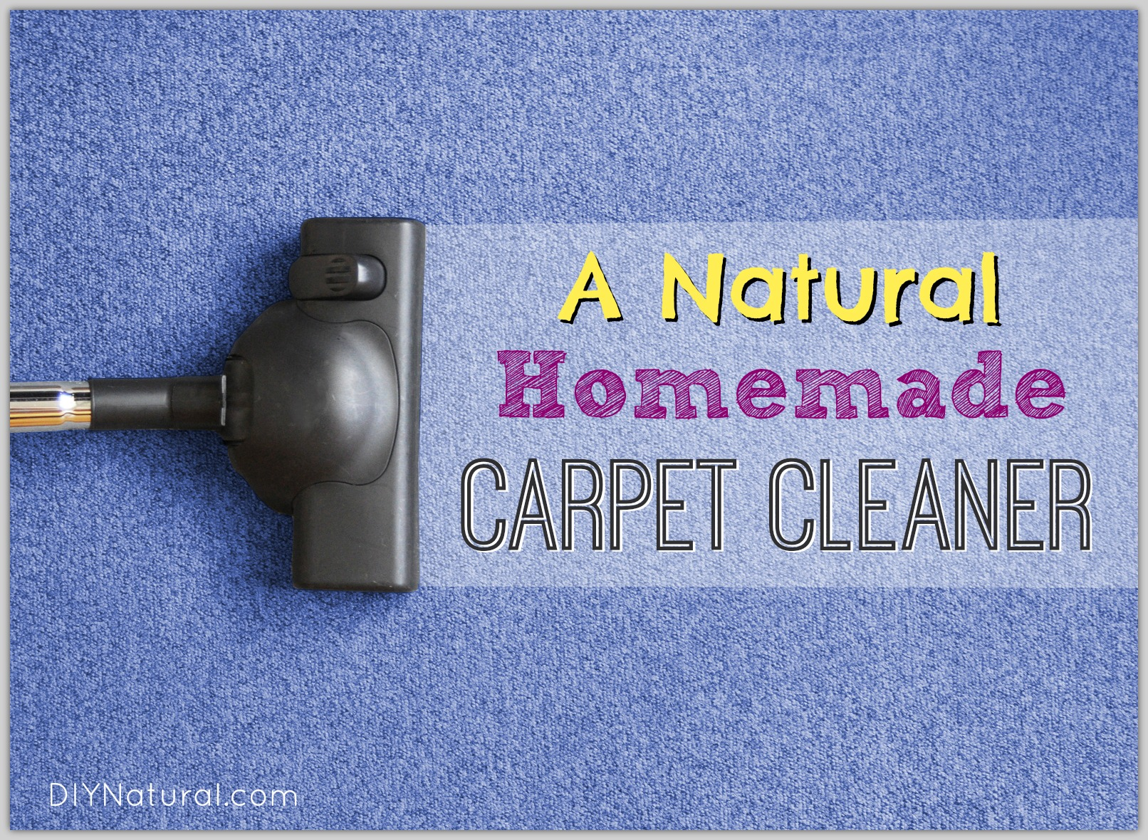 Homemade Carpet Cleaner and Natural Stain Remover