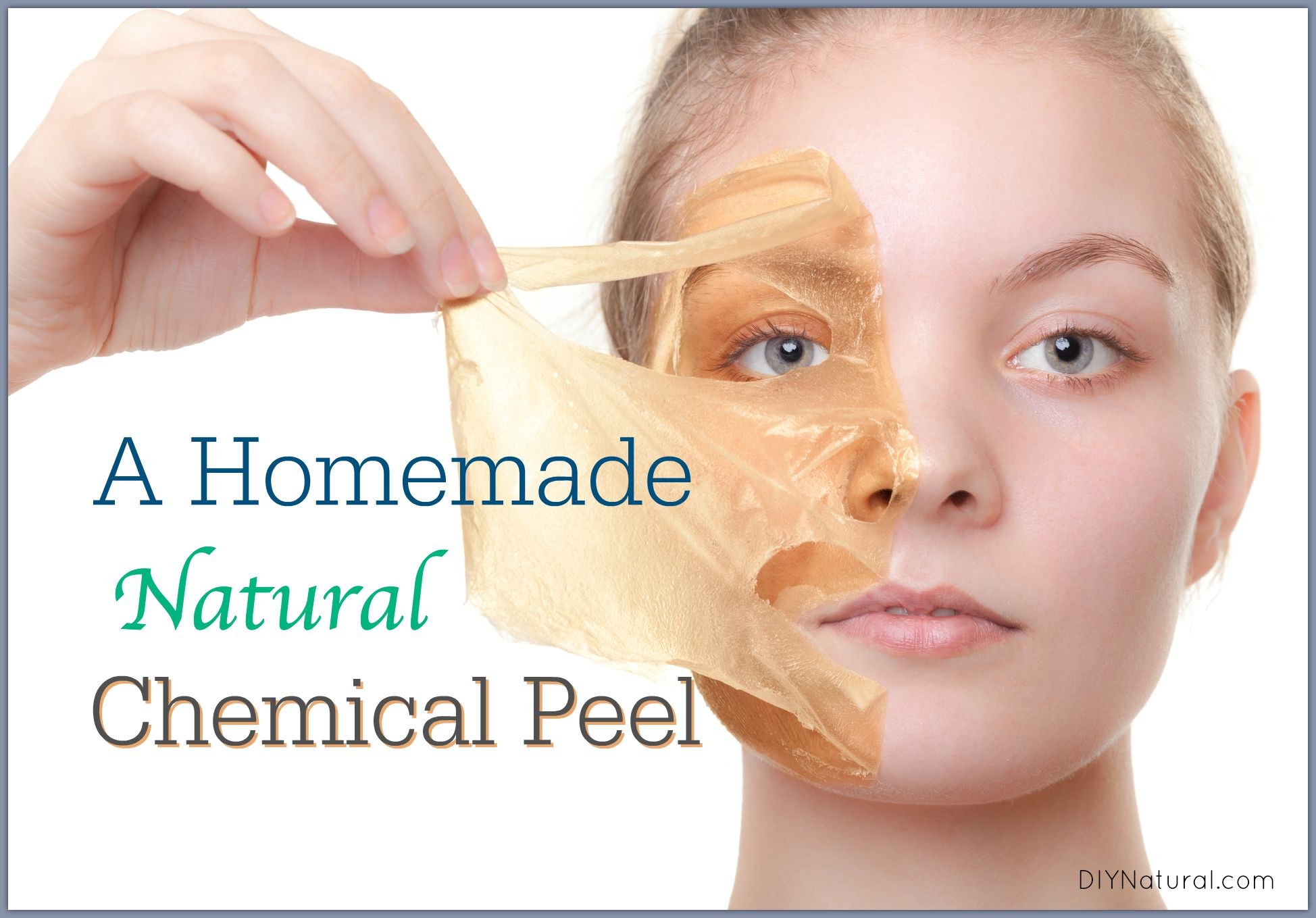 homemade peel mask