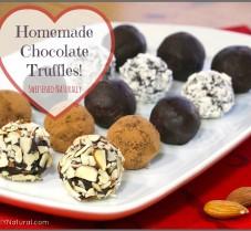 Homemade Naturally Sweetened Chocolate Truffles