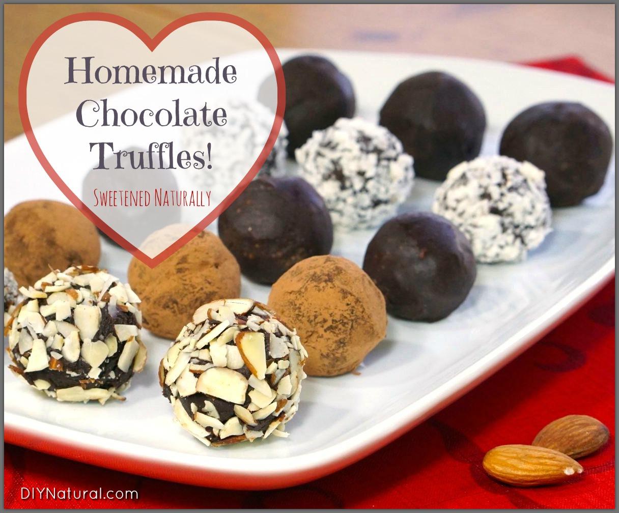 Homemade Chocolate Truffles Sweetened Naturally!