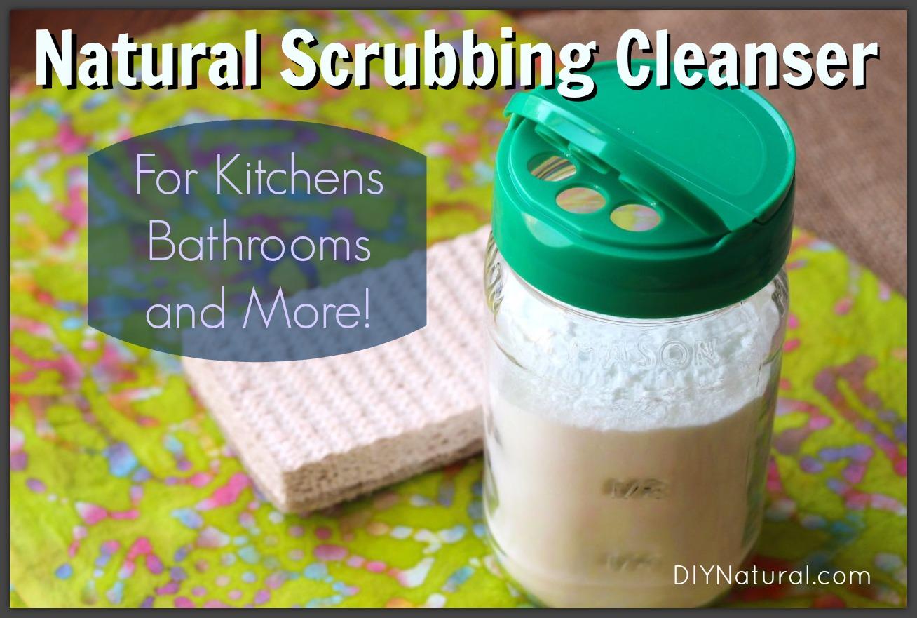 DIY Natural Powdered Scrubbing Cleanser