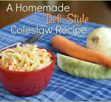 A Homemade Deli-Style Coleslaw Recipe with Yogurt