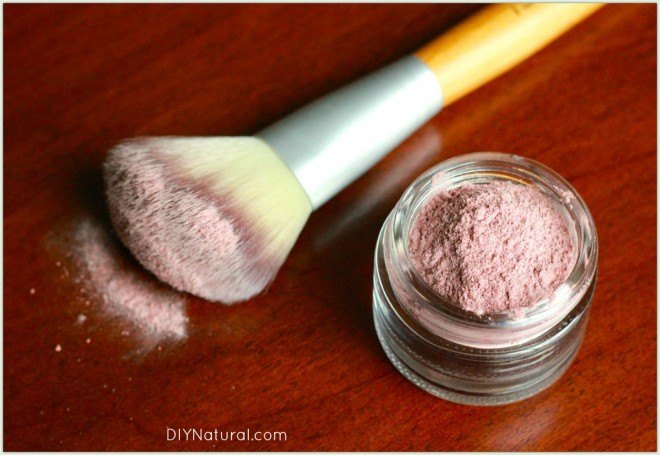 Homemade Cosmetics Blush Powder 1