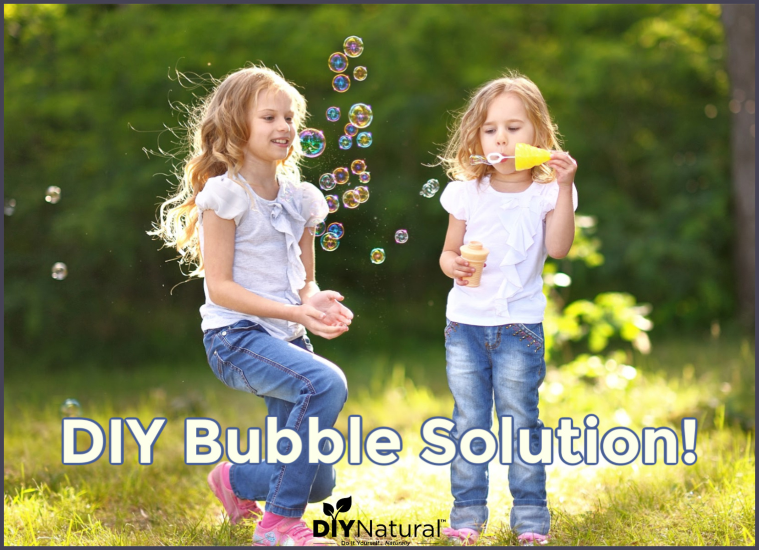Making Homemade Bubble Solution For The Kids!