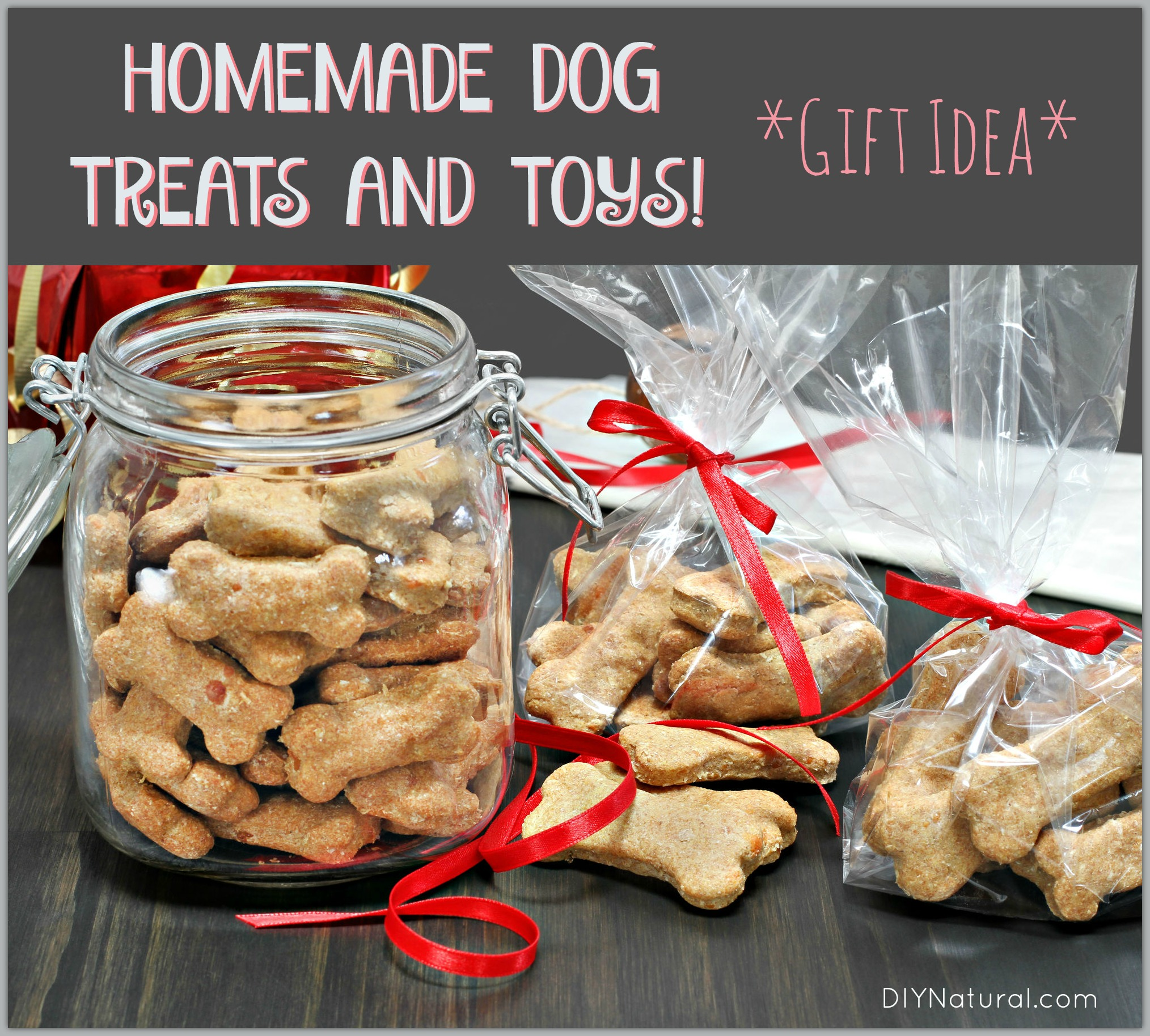 homemade dog treats and toys make for great gifts