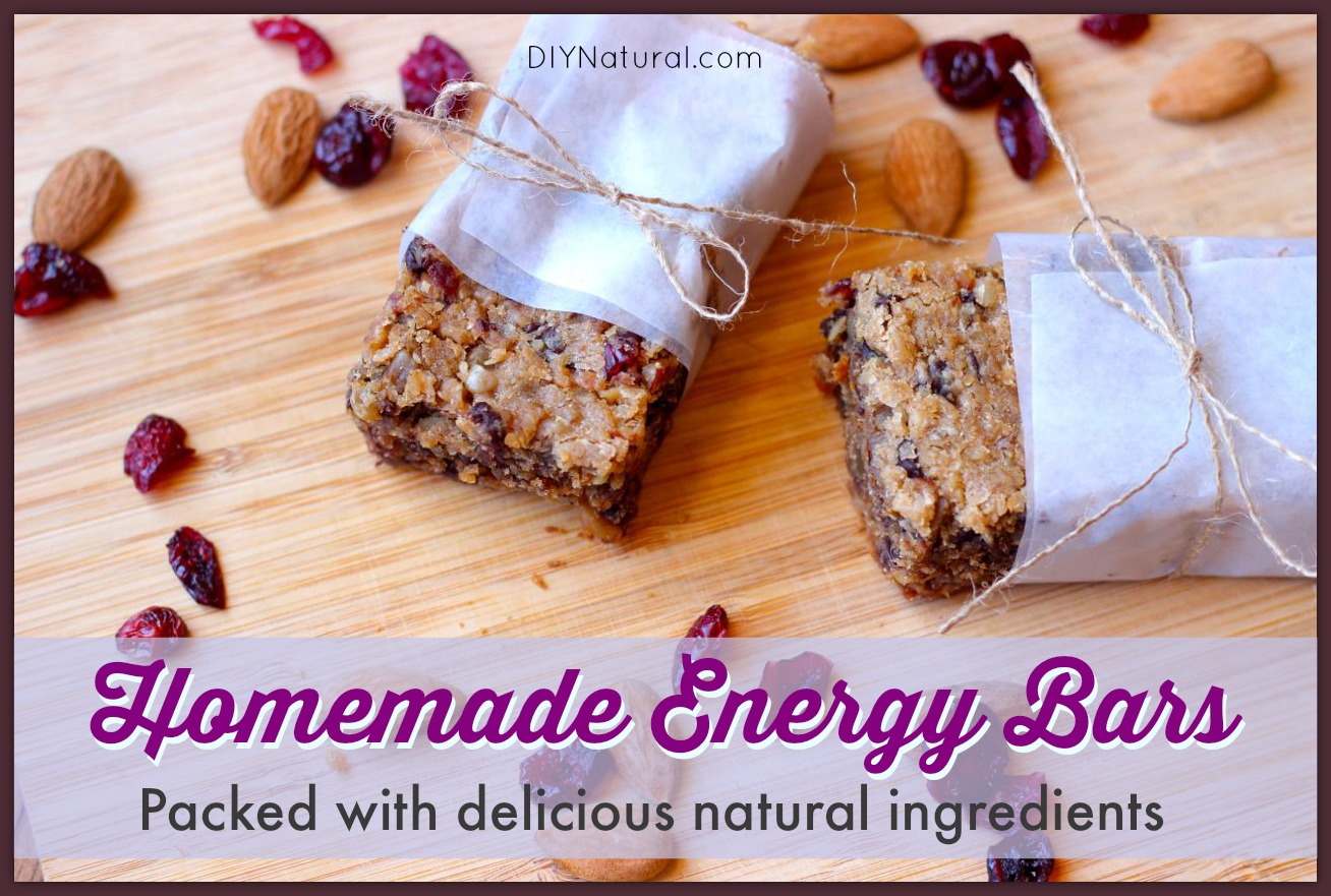 Homemade Energy Bars - A Natural Granola Bar Recipe For Active People