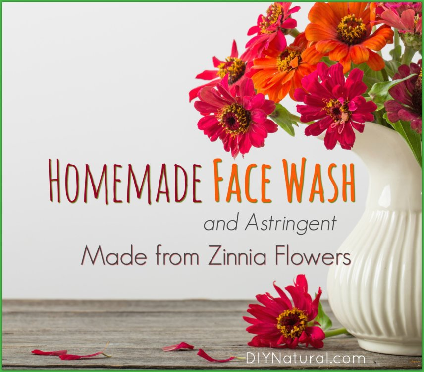 Homemade Face Wash Zinnias