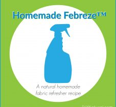 Natural Homemade Fabric Refresher (like Febreze™)