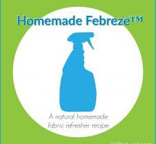 Natural Homemade Fabric Refresher (like Febreze™)