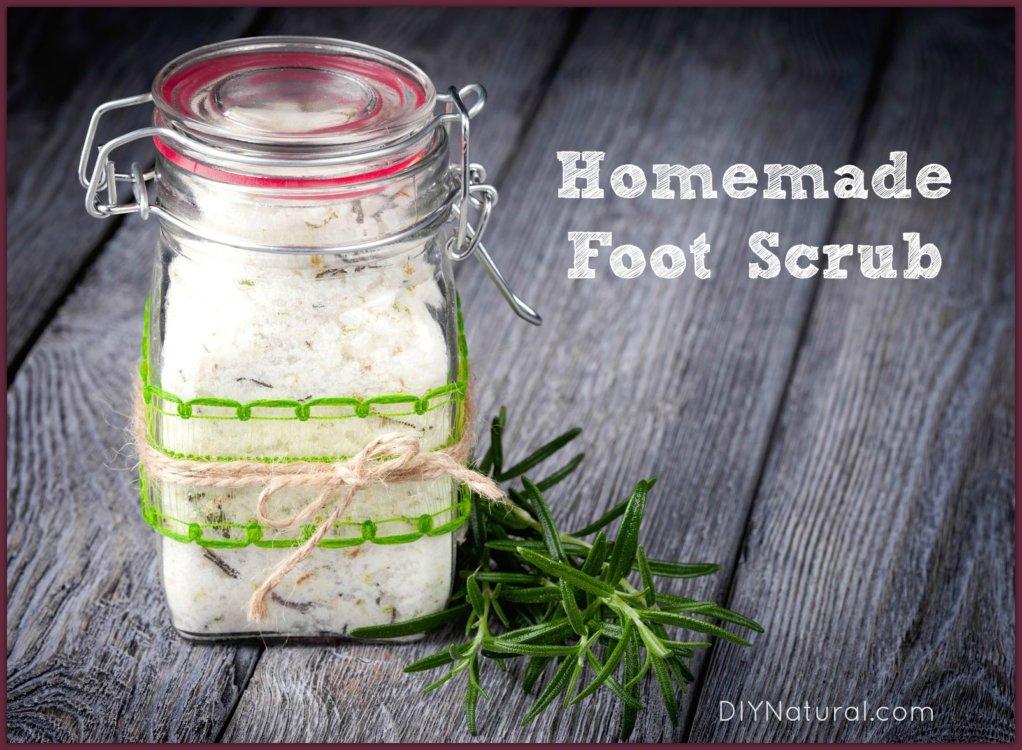 Homemade Foot Scrub Recipe DIY