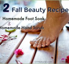 Homemade Foot Soak and Hand Scrub for Autumn