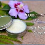 Homemade Hair Cream for Nourishing, Natural Style