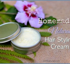 Homemade Hair Cream for Nourishing, Natural Style
