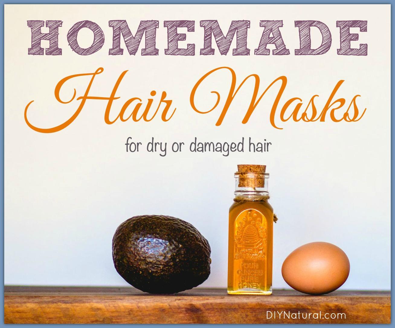 Homemade Hair Masks For Dry Or Damaged Hair