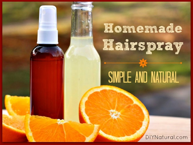 Homemade Hairspray