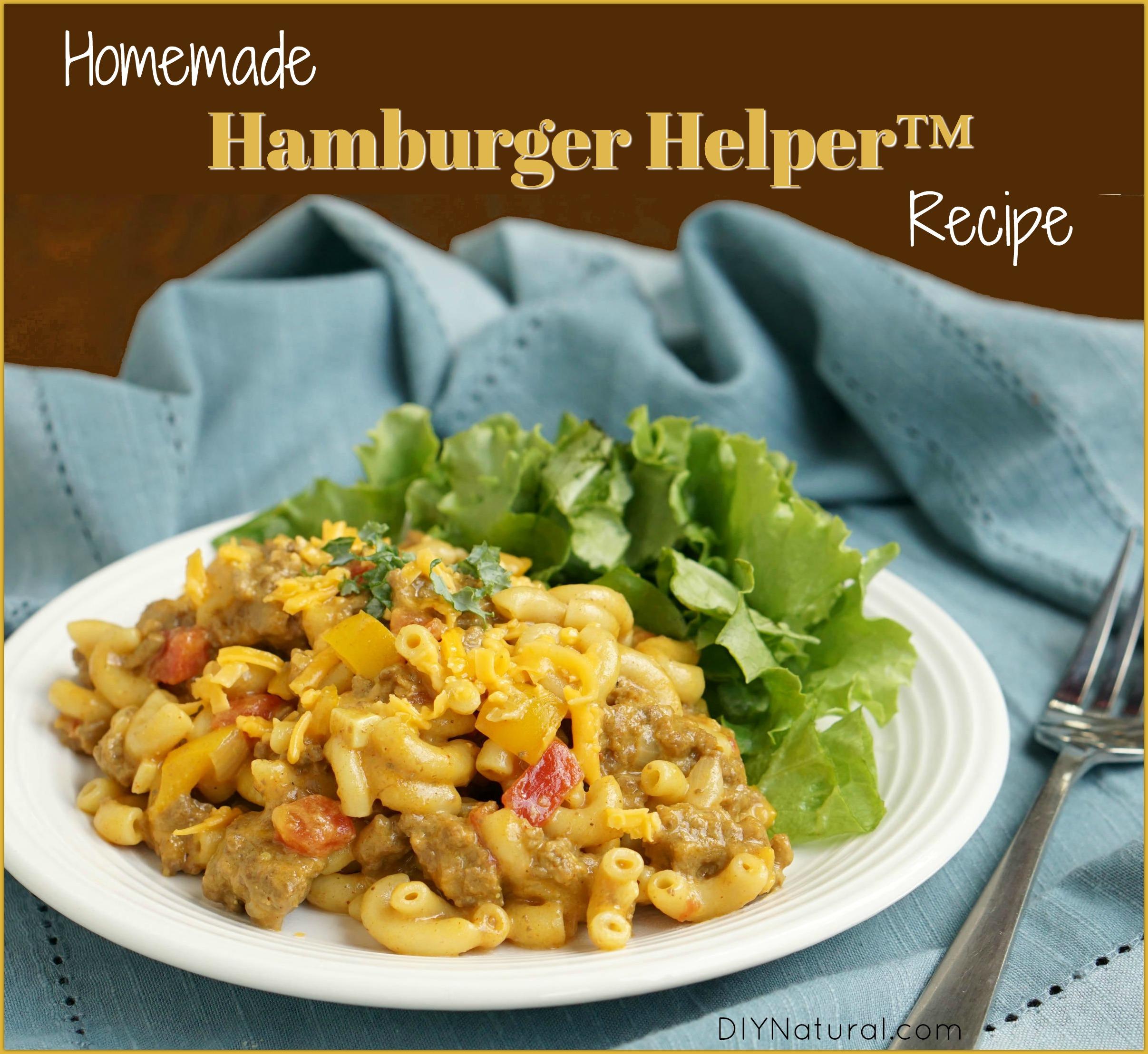 Homemade Hamburger Helper: Cheeseburger