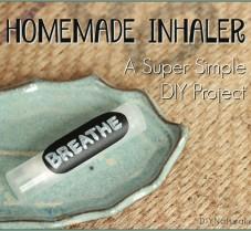A Super Simple Homemade Nasal Inhaler